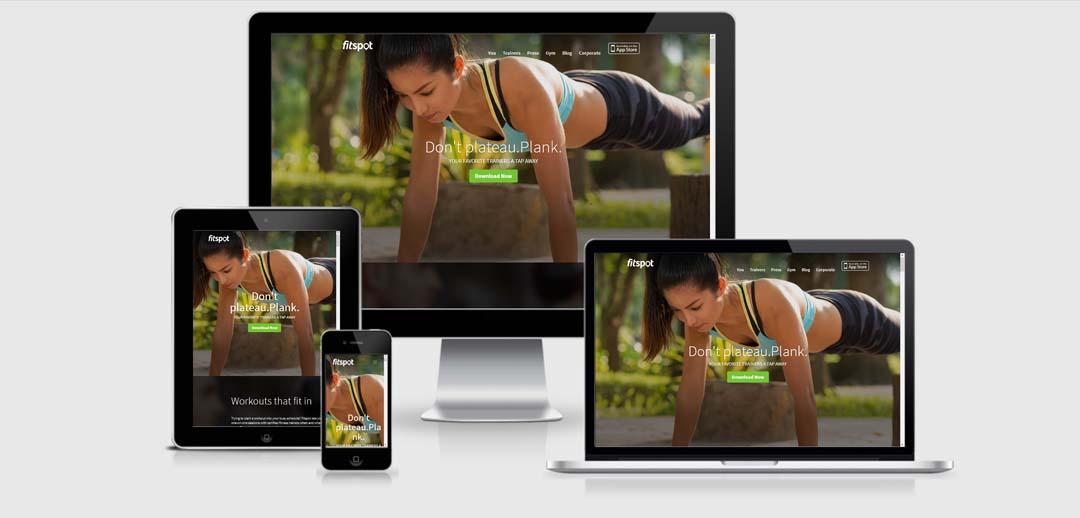 Mobile App Website Design